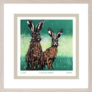 Love-A-Hare - Framed