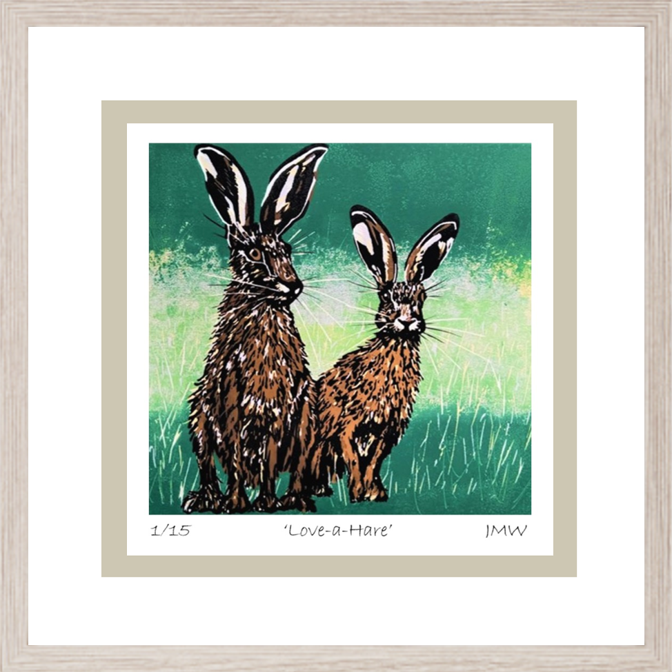 hare framed for gallery and rooms
