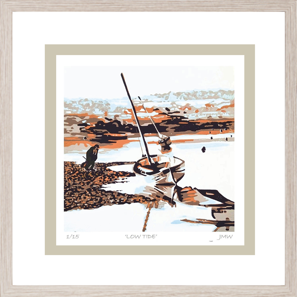 low tide framed for gallery and rooms