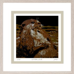 Otter Love - Framed