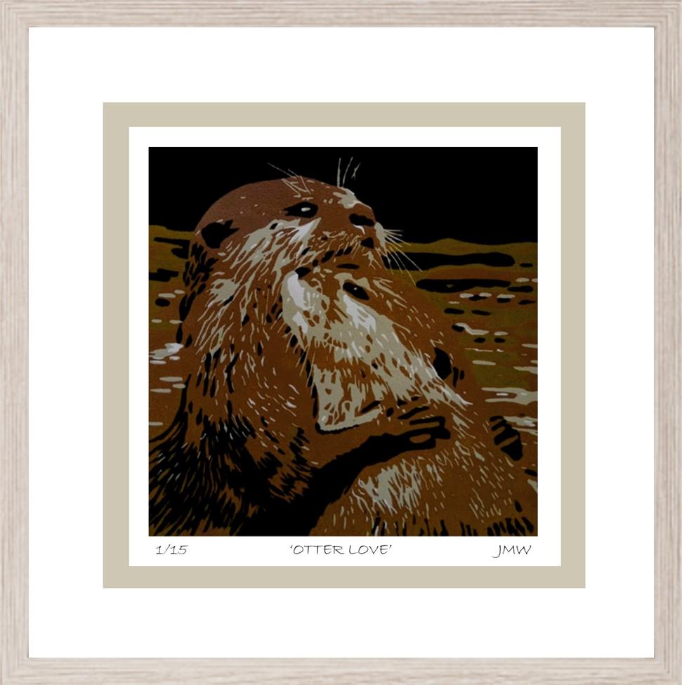 otter framed for gallery & rooms