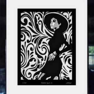Retro Girl 1 - Framed