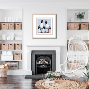 'Singing Gulls' - framed