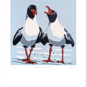 'Singing Gulls' - print