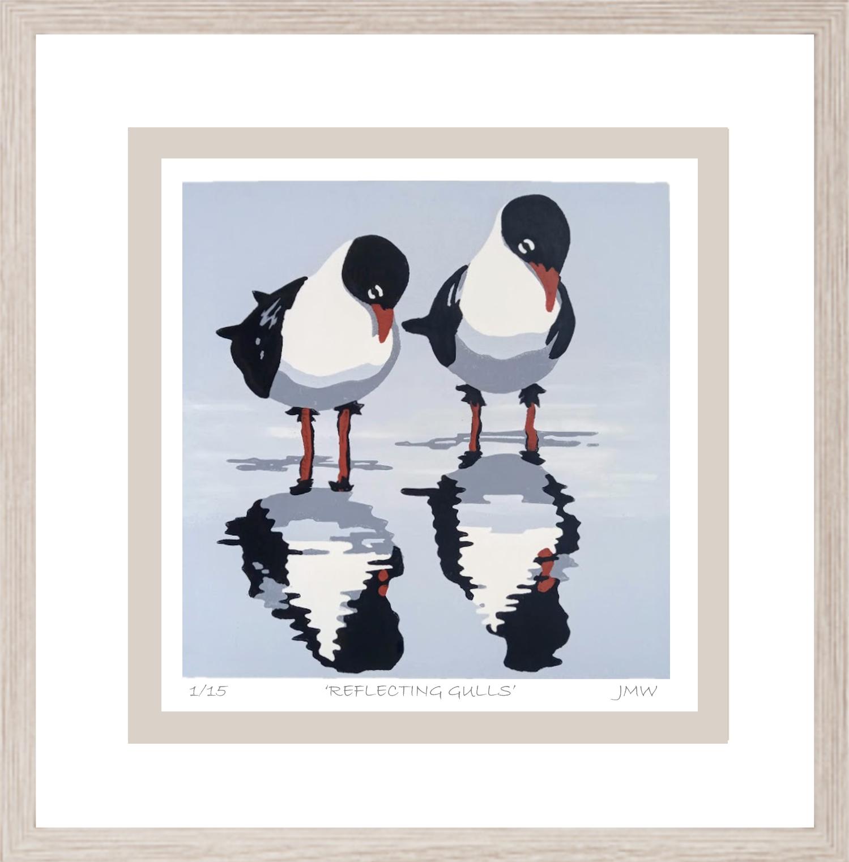 reflecting gulls framed