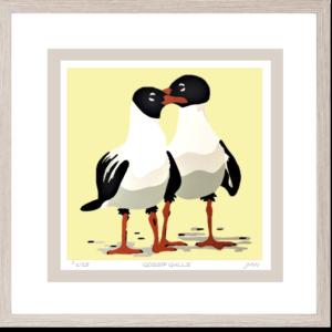 'Gossip Gulls - framed'