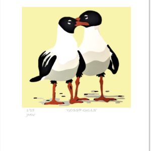 'Gossip Gulls' - print only