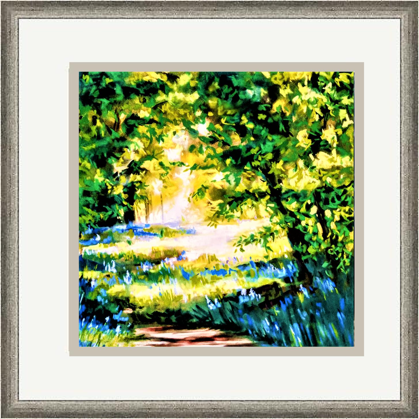 sunlit glade framed